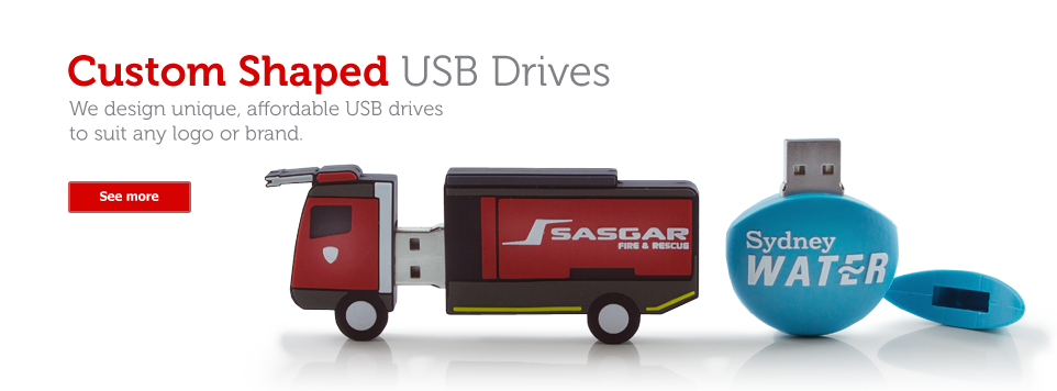 Custom Shaped USB Drives